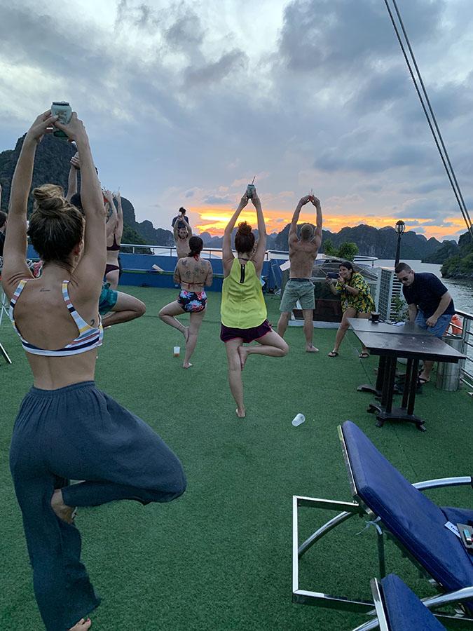 Halong Bay - Beer Yoga