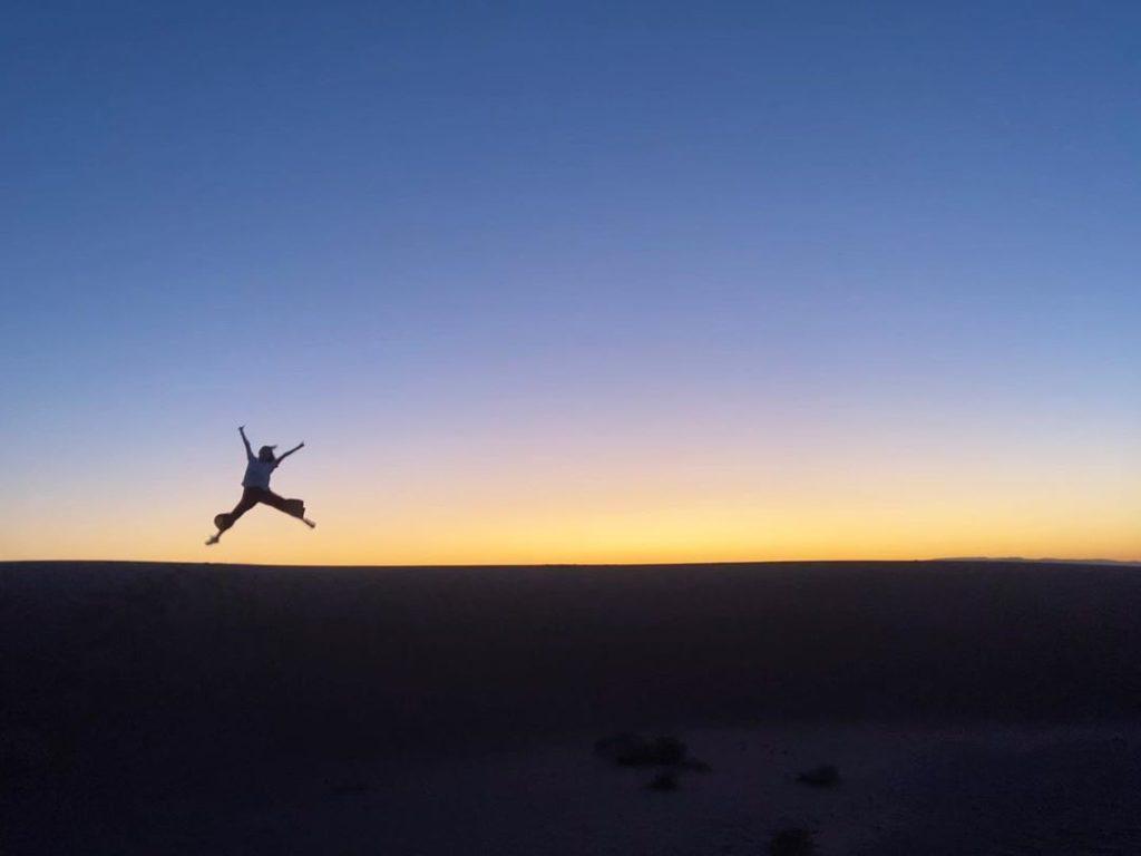 Desierto de Zagora al atardecer