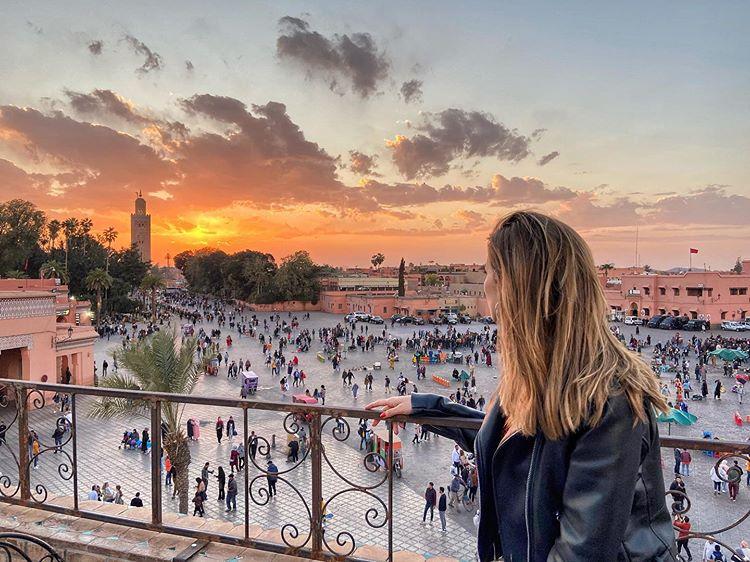 Marrakech - Le grand balcon du café glacier